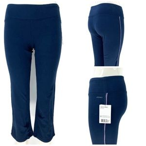 Jockey Stretch Jersey Key Pocket Slim Flare Capri